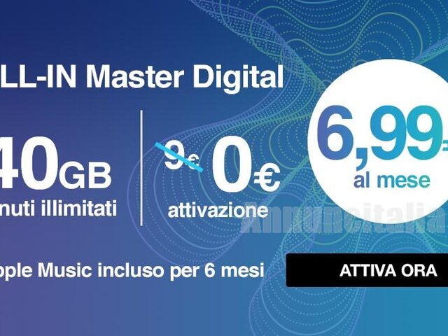 Sim ricaricabile 3 con minuti illimitati e 40GB+GIGA BANK - 1/2