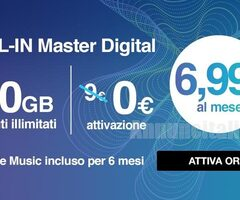 Sim ricaricabile 3 con minuti illimitati e 40GB+GIGA BANK
