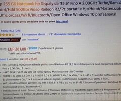 notebook 255g6 in garanzia hp